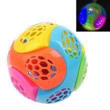 Kids Toy Bouncing-Ball Puzzle Led-Light Jumping Flashing Music 1PC Assemble-Blocks