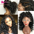 Heat Resistant Synthetic Curly Wig Natural Full Lace Front Synthetic Wig Celebrity Synthetic Hair Lace Front Black Wig For Woman