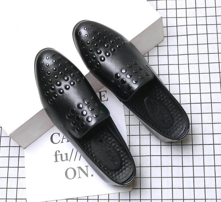 Social Apontou Oxford Britânico Vestido Sapato Finalistas 2018 Do Casa Masculinos A Baile 1 Casamento Regresso Sapatos Rebite Homens Masculino Designer Slip Dos De on OqvwI