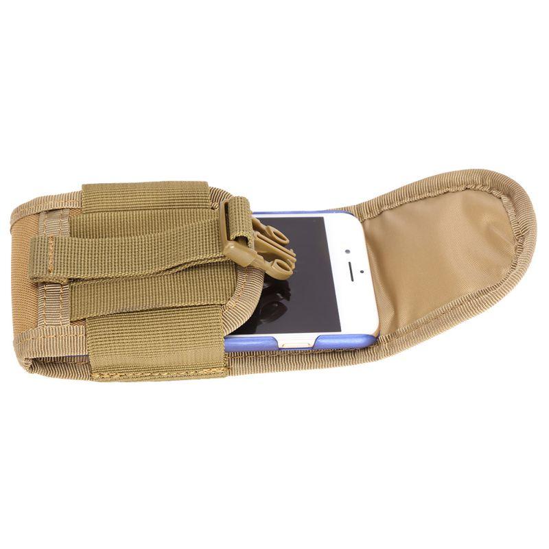 4.5 inci Universal Tactical Bag Tentera Tentera Mini Pouch Kes Cover Hook Bag untuk Telefon Mudah Alih Key Tools Kecil