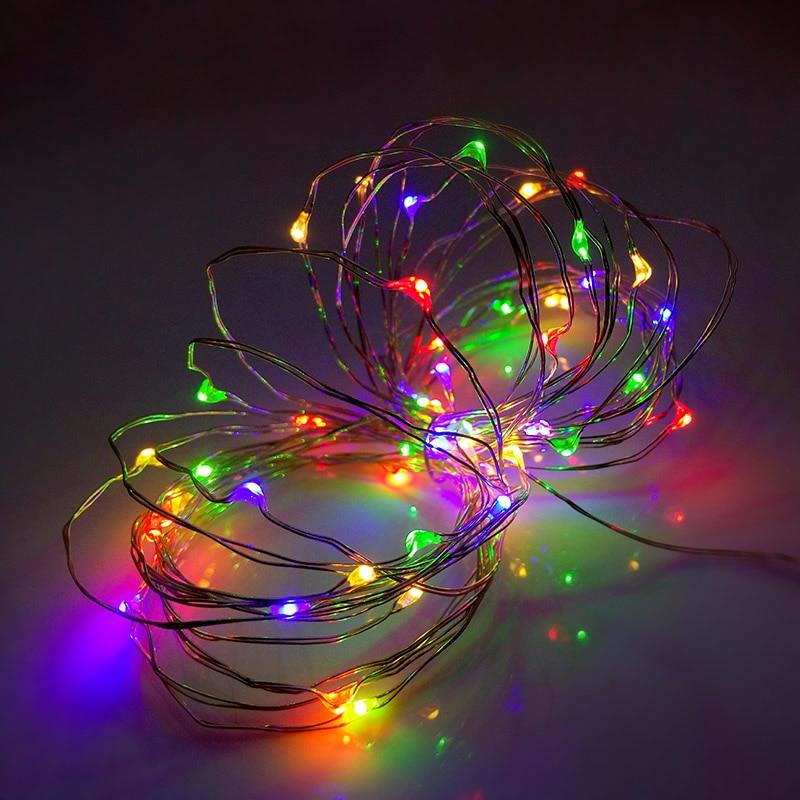 led string lights 5M 35ft 50-calowy akumulator USB outdoor Ciepły - Oświetlenie wakacje - Zdjęcie 4
