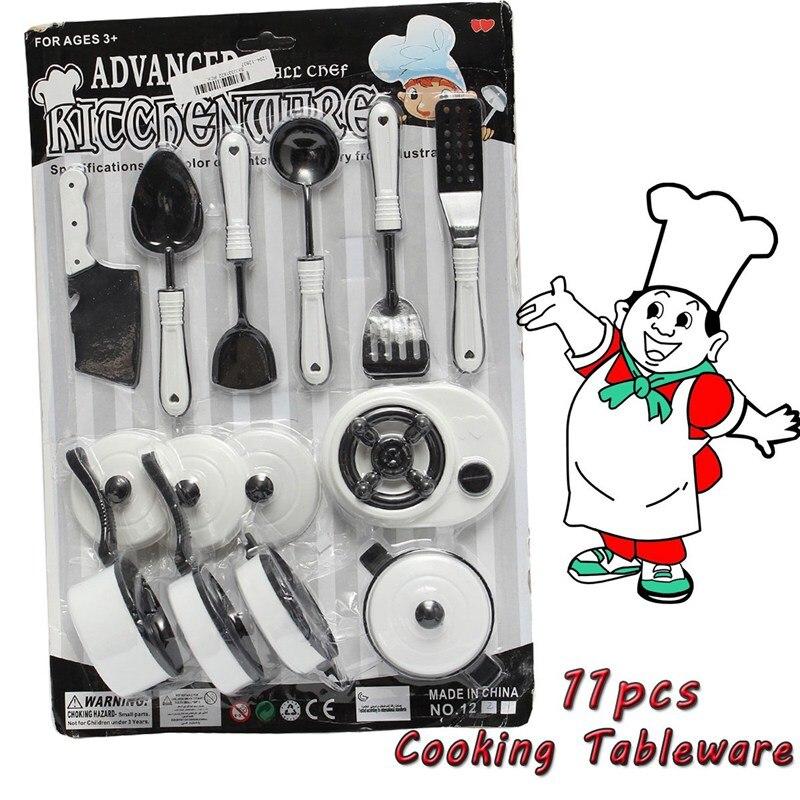 11pcs/set Children Pretended Role <font><b>Play</b></font> <font><b>Kitchen</b></font> Utensil <font><b>Accessories</b></font> Cooking Toy <font><b>Kids</b></font> Role <font><b>Play</b></font> Toy Set Educational Toys