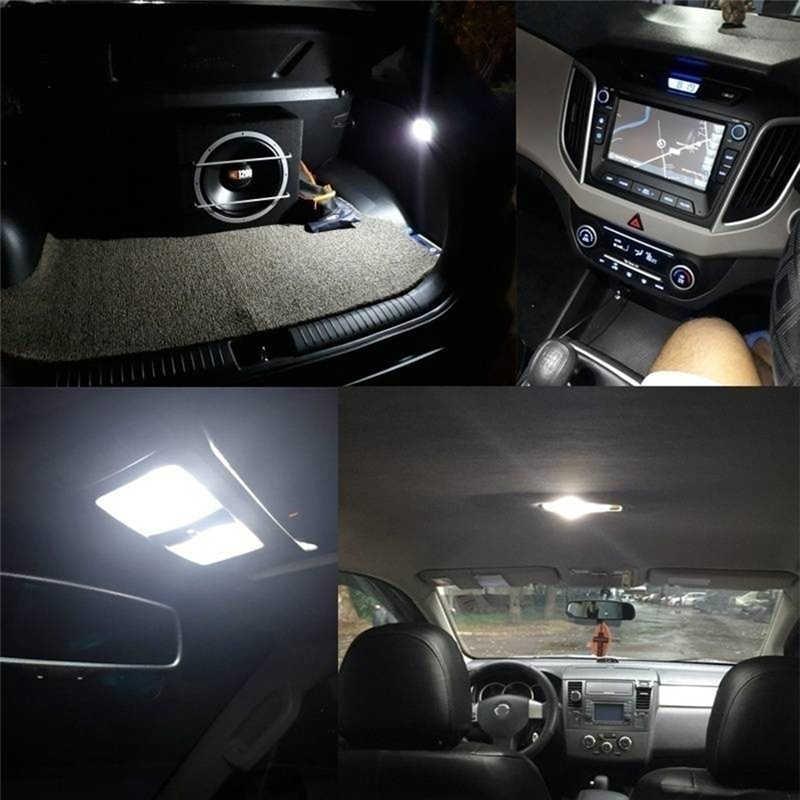 100% tout nouveau durable haute luminosité C5W LED voiture cob lumière de lecture voiture top lumière double point lumière plaque d'immatriculation