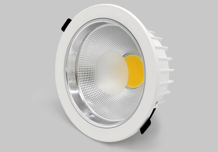 Free 10x 5w 7w 15w 20w 30w 40W LED COB round downlight Dimmable Recessed LED Ceiling Lamp Spot Light White/warm led lamp cree surface mount led cob downlight dimmable 7w 10w 15w dimming cob led spot light led ceiling lamp ac110v 240v