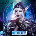 Sofeel synthetic wigs world of warcraft WOW Sylvanas Windrunner 80cm pure white straight perruque cheveux synthetic