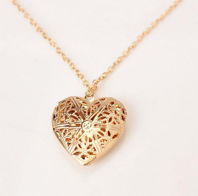 heart locket necklace with