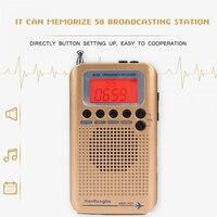 FM Stereo Radio Portable Mini Digital Radio Digital Frequency With 3.5mm audio hole LCD Display and Earphone