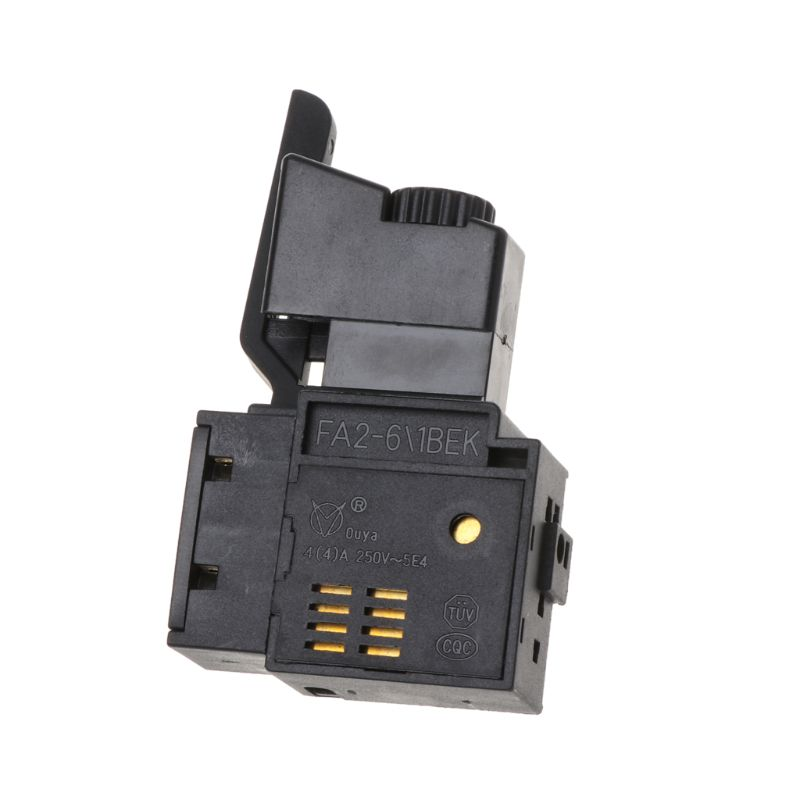 FA2-4//1BEK SPST Lock on Power Tool Trigger Speed Control Button Switch 4A  250V