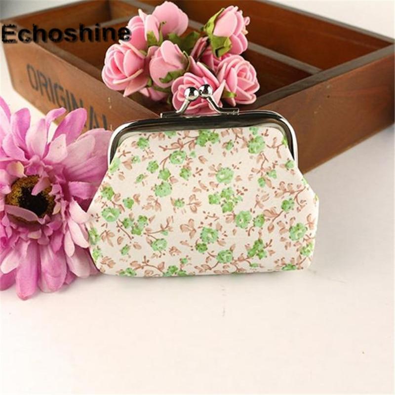 Splendid 2016 Hot Sale Women Lady Retro Vintage Flower Small Wallet Hasp Purse Clutch Bag A2000