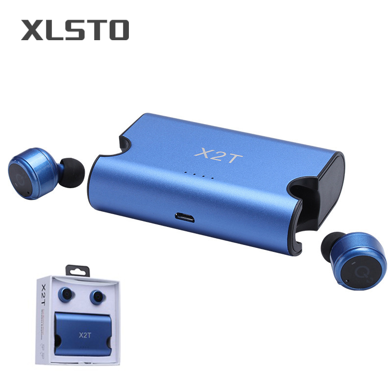 XLSTO Wireless Bluetooth Earphone X2T Bluetooth CSR4.2 Stereo Earphones earbuds 1500mAh Charging Box With Micro For Mobile Phone