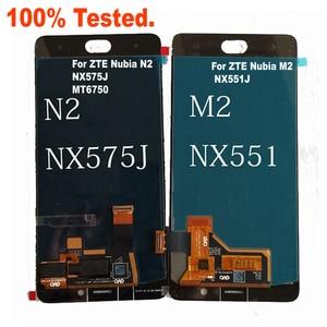 "Image 4 - Best Original Working LCD Display Touch Screen Digitizer Assembly Sensor + Frame For 5.5"" ZTE Nubia N2 NX575J MT6750 / M2 NX551J"