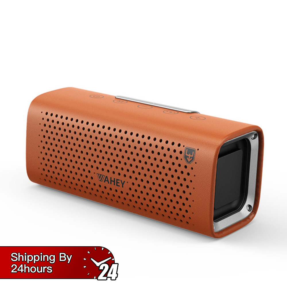 Portable Wireless Bluetooth Speaker 3D Surround Super Bass Stereo Bluetooth Speaker Smooth Square Leather Bluetooth Speaker