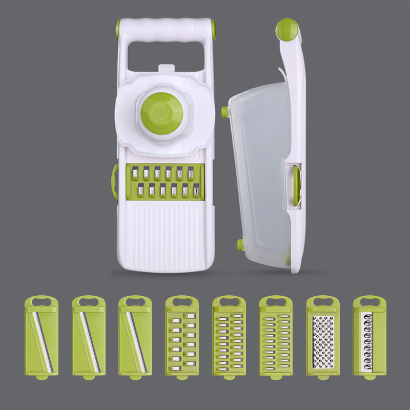 Manual Mandoline Slicer with 8 Interchangeable Blades Used as Potato Peeler Carrot Grater 5