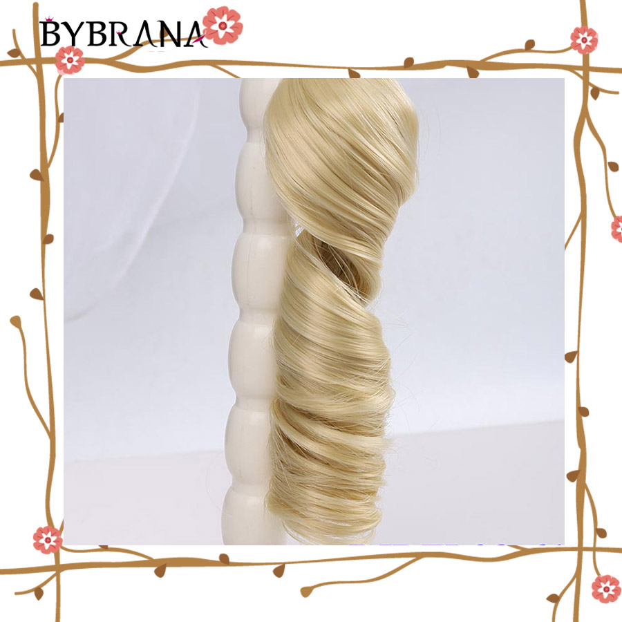 Bybrana BJD SD Hair Curly Black Brown Silver Multicolor Color 15*100cm And 30*100cm Wigs For Dolls DIY Free Shipping