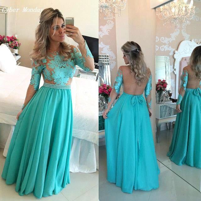 Vestido de festa azul tiffany aliexpress