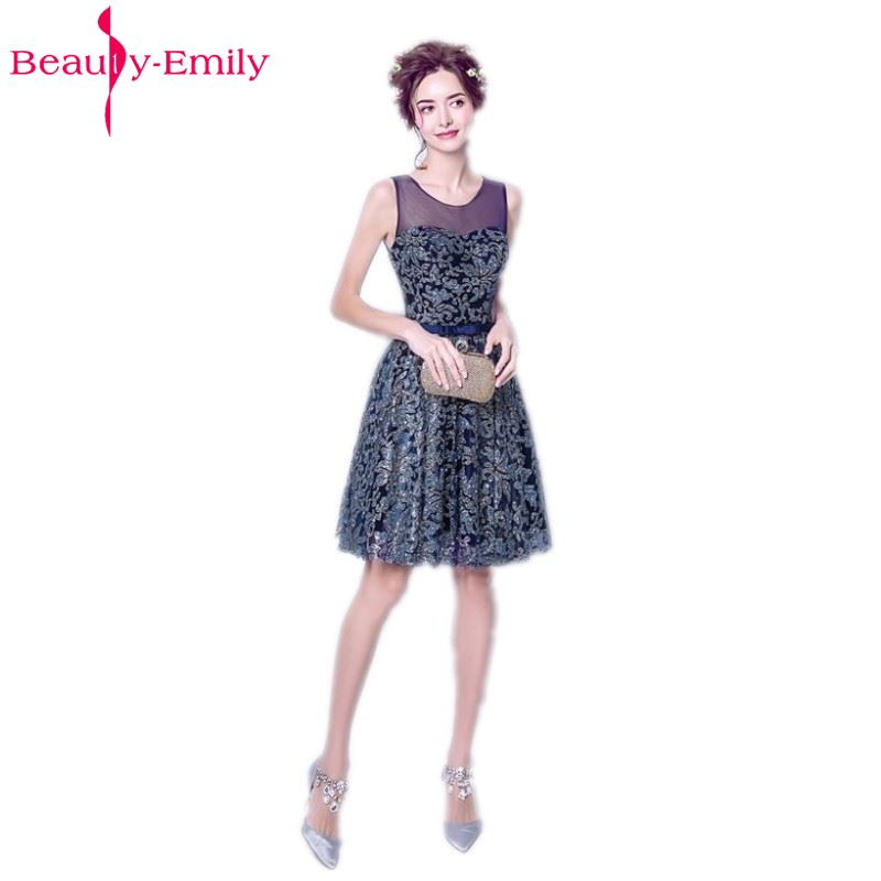 Beauty-Emily Green Mini   Cocktail     Dresses   2017 Sexy O-Neck Luxury Sequined Formal Prom Gowns Short   Cocktail   Party Prom   Dress