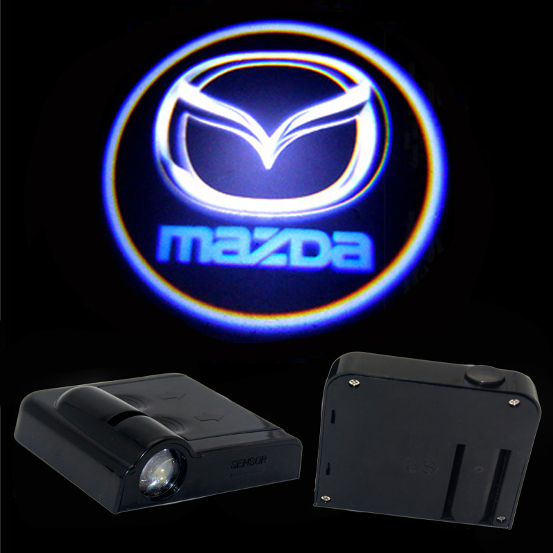 2X LED Car Door Light Projector Laser Ghost Shadow Logo light FOR <font><b>Mazda</b></font> <font><b>3</b></font> 2 6 cx5 cx-5 8 Atenza