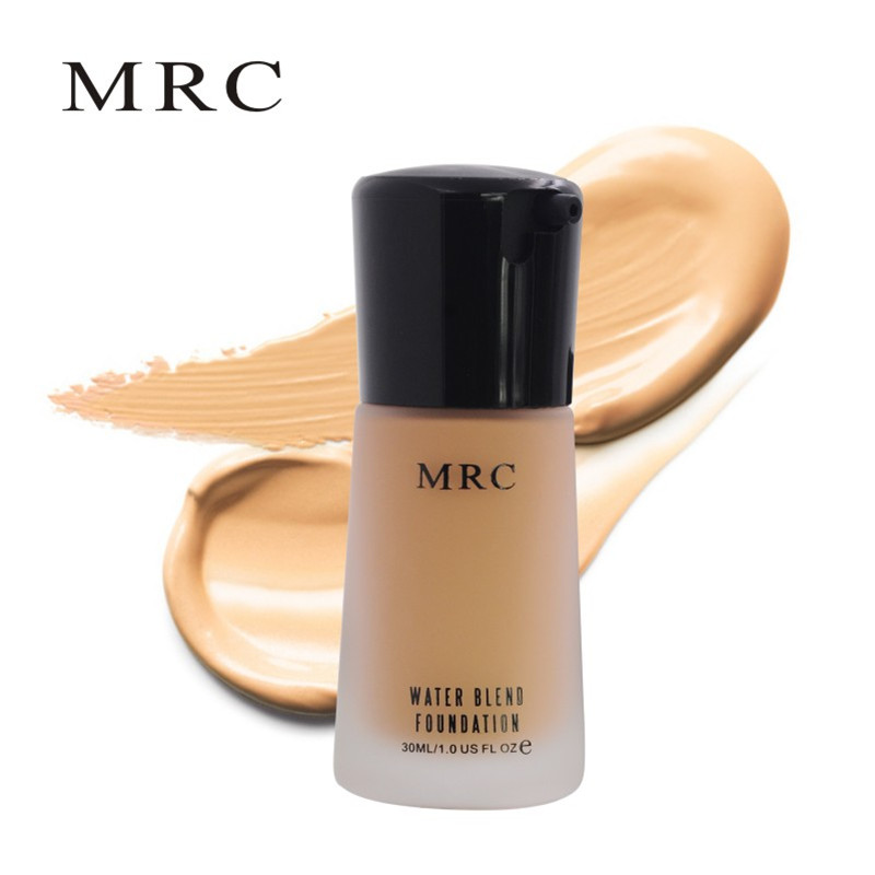 MRC Water Blend Pores Liquid Foundation 30 ml with Concealer Whitening Moisturizer Hydrating Functions 10 Colors Available image