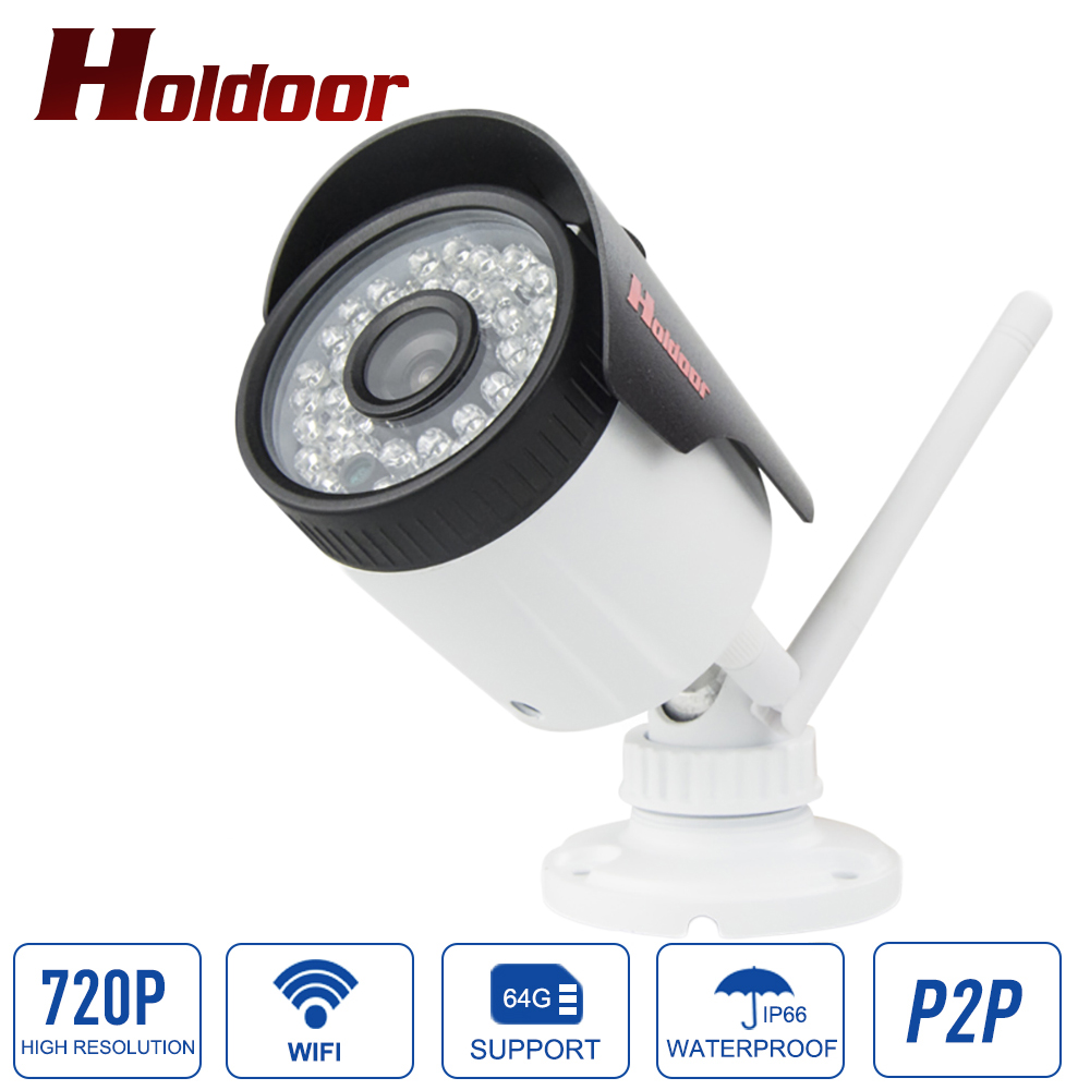 IP66 Waterproof Outdoor Bullet IP Camera Wifi 802.11 b/g/n Wireless IP Cam 720P/960P/1080P Optional ONVIF Camera With Bracket wistino cctv camera metal housing outdoor use waterproof bullet casing for ip camera hot sale white color cover case