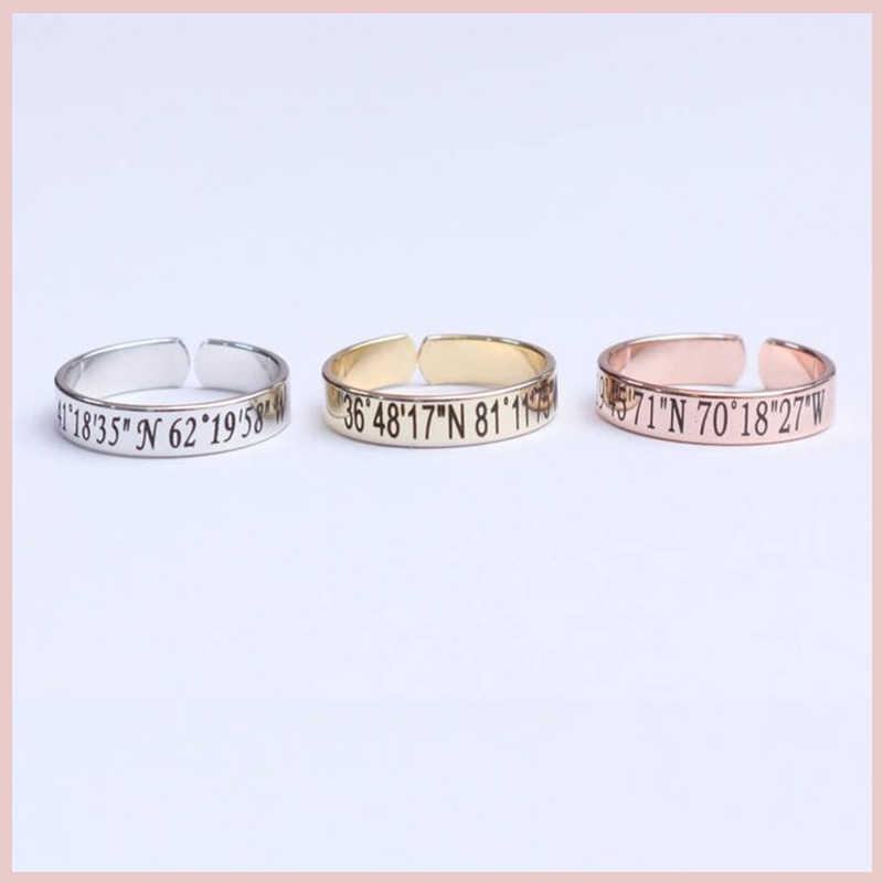 SG Персонализированные 925 sterlig Серебряные Кольца На заказ выгравированное имя кольца с регулируемое кольцо мода свадьба для женщин Подарки