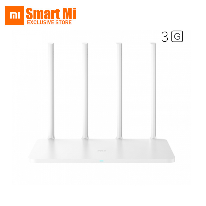 Original Xiaomi WiFi Router 3G 1167Mbps 802.11ac Dual Band 2.4G/5G Gigabit USB 3.0 256MB DDR3-1200 Supports APP xiaomi mi wifi wireless router 3g 2 4g 5ghz dual 128mb band flash rom 256mb memory and xiaomi wifi repeater 1 amplifier extender
