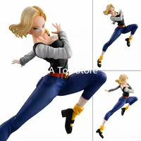 Anime Dragon Ball Z Gals Android NO.18 Lazuli Ver.IV PVC Action Figure Collectible Model Toys Doll