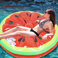 1.4m Watermelon Lemon Inflatable Swimming Pool Float Swimming Circle Mattress Beach Bed Party Fun Summer Water Toys Boia Piscina