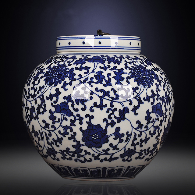 The Family Decorates Ginger Jar Porcelain Ceramic Vase For Chinese