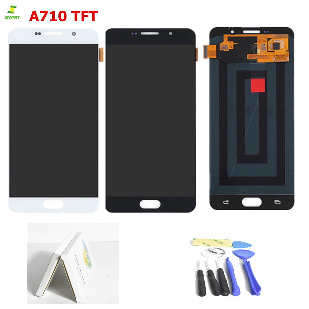 TFT For SAMSUNG GALAXY A7 2016 A710 LCD Display Touch Screen Digitizer Assembly Replacement For 5.5 SAMSUNG A710 LCD DisplayTFT For SAMSUNG GALAXY A7 2016 A710 LCD Display Touch Screen Digitizer Assembly Replacement For 5.5 SAMSUNG A710 LCD Display