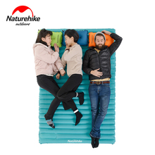 Naturehike Outdoor Camping Inflatable Sleeping Pad Ultralight Hand Press Type Air Mattress TPU Waterproof Tent Mat Cushion(China)