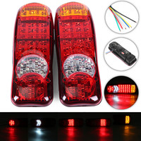 1 Pair 12V LED Truck Rear Lights Car Bus Trailer Tail Light Indicator Stop Reverse Lamp Reverse Taillight