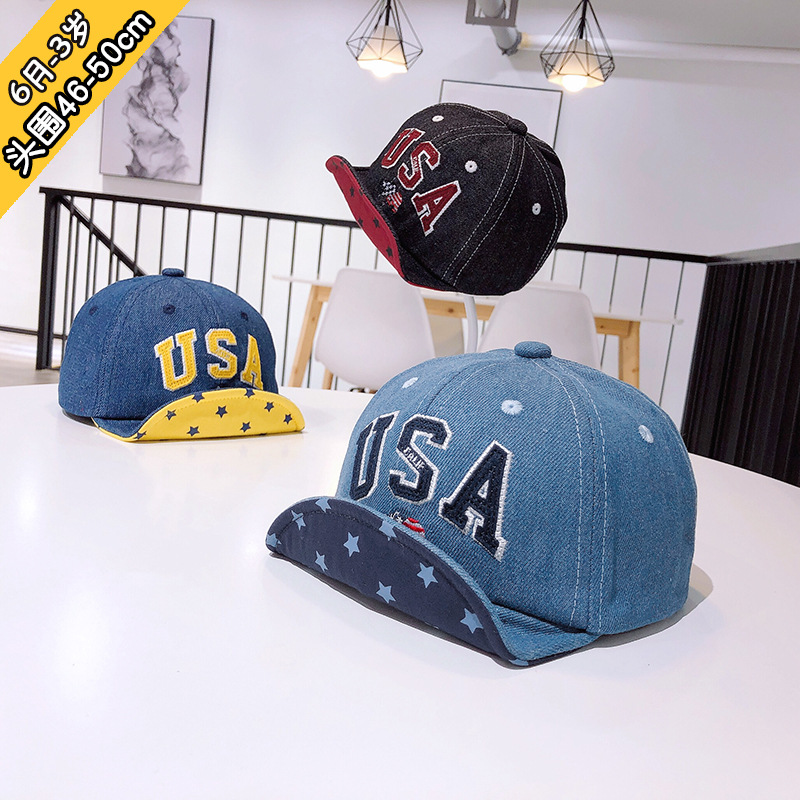 6m to 3t children 39 s hat the spring and autumn period and the type of private baby cowboy hip hop cap letters sun sun hat XA 263 in Hats amp Caps from Mother amp Kids
