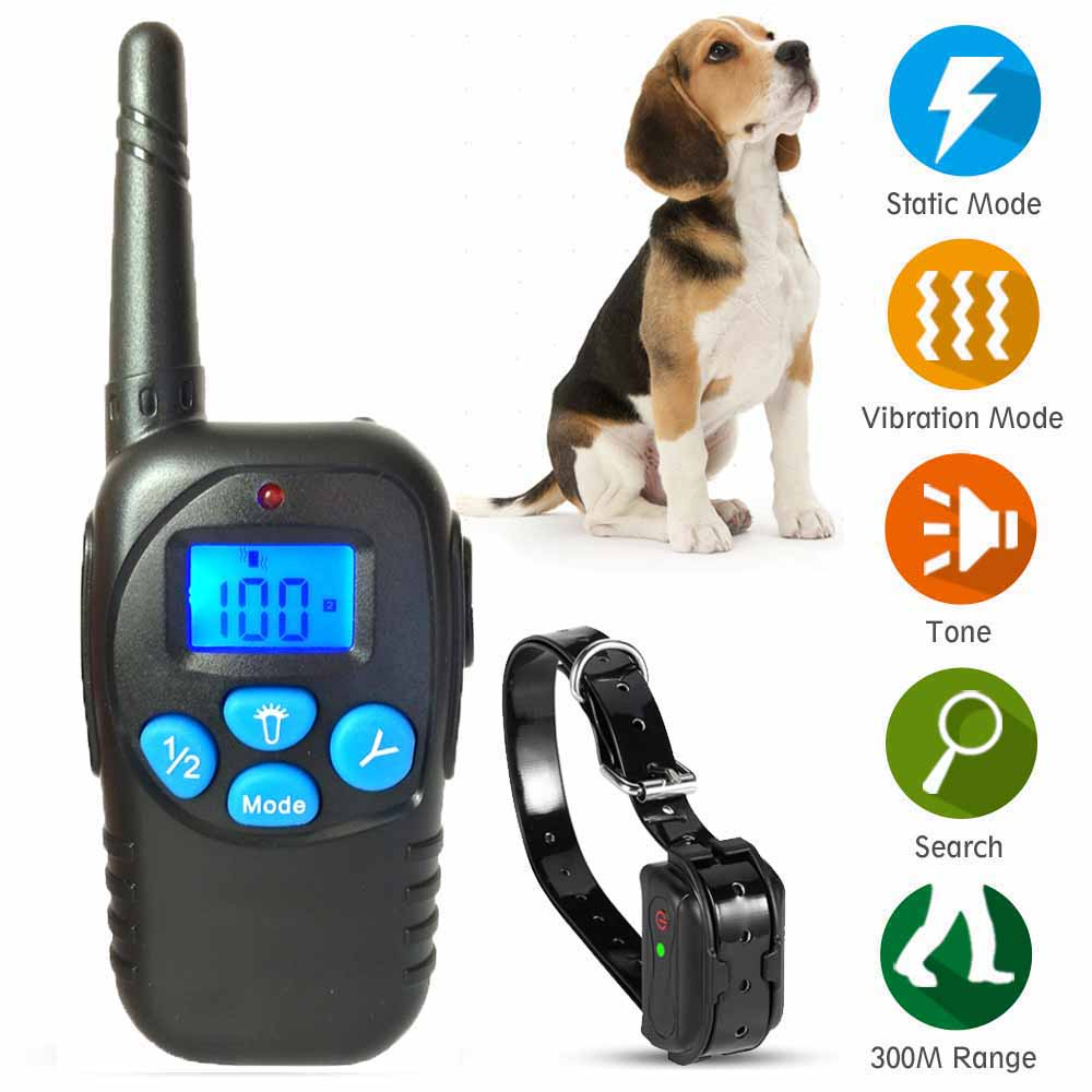 janpet-basic-training-collar-waterproof-rechargeable-dog-electric-shock-collar-300m-remote-pets-training-collars