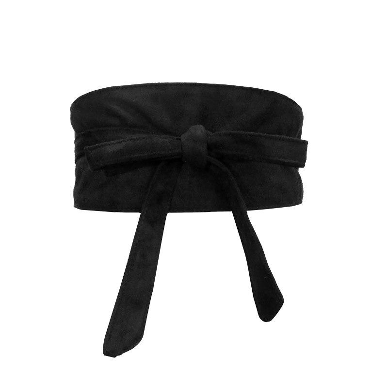 Fashion women   belt   Soft Faux suede Bowknot Body Shaping Bands Wide   Belts   corset ceinture femme match dress   belts   for women