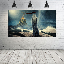 Game of Thrones Khaleesi Back View Art Canvas Painting Prints Living Room Home Decoration Modern Wall Oil Posters