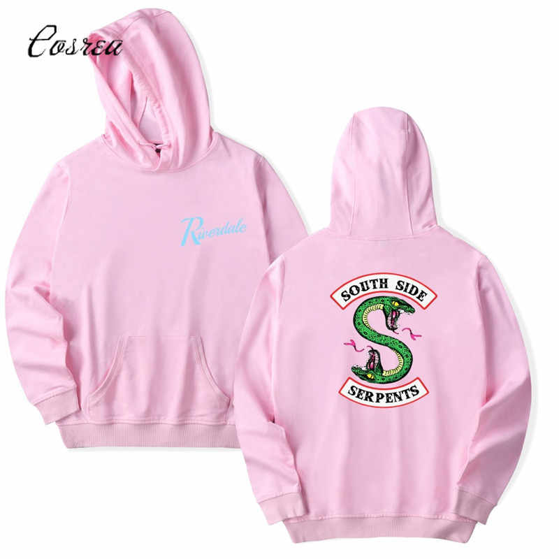 Riverdale South Side Serpents Hoodie Sweatshirts SouthSide Funny Cartoon Print Women/Men Hooded Pullover Tracksuit Female