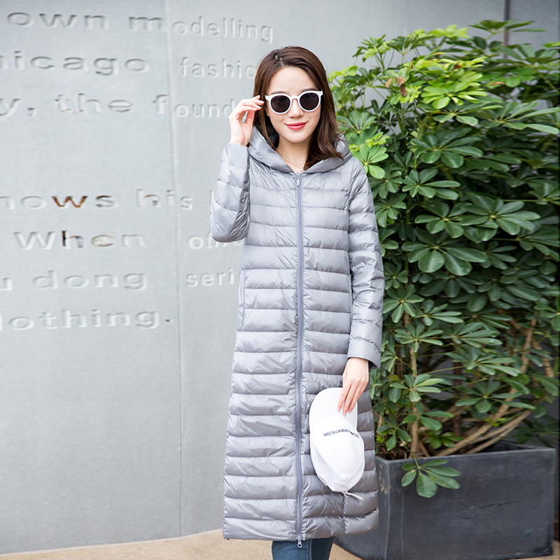 Down     Coat   Female Winter Jackets Women Winter Brand Long Womens Brands 90% White Duck With Bag Ladies   Down     Coat   Female