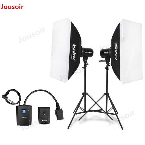 600Ws <font><b>Godox</b></font> Strobe Studio Flash Light Kit 600W - Photographic Lighting - Strobes, Light Stands, Triggers, Soft Box CD50 Y image
