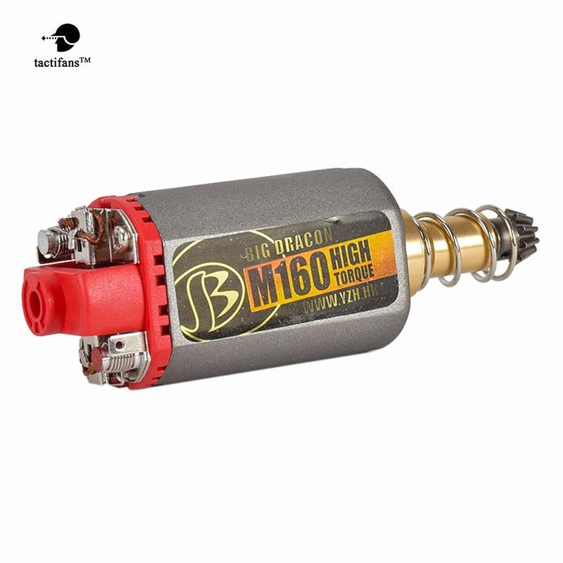 TACTIFANS Big Dracon M120/140/160 High Torque/ High Speed Motor AEG/ EBB Motor Long/ Short Axis for Airsoft M4/MP5 M16 G3 P90 AK kaish black p90 high power sound neck