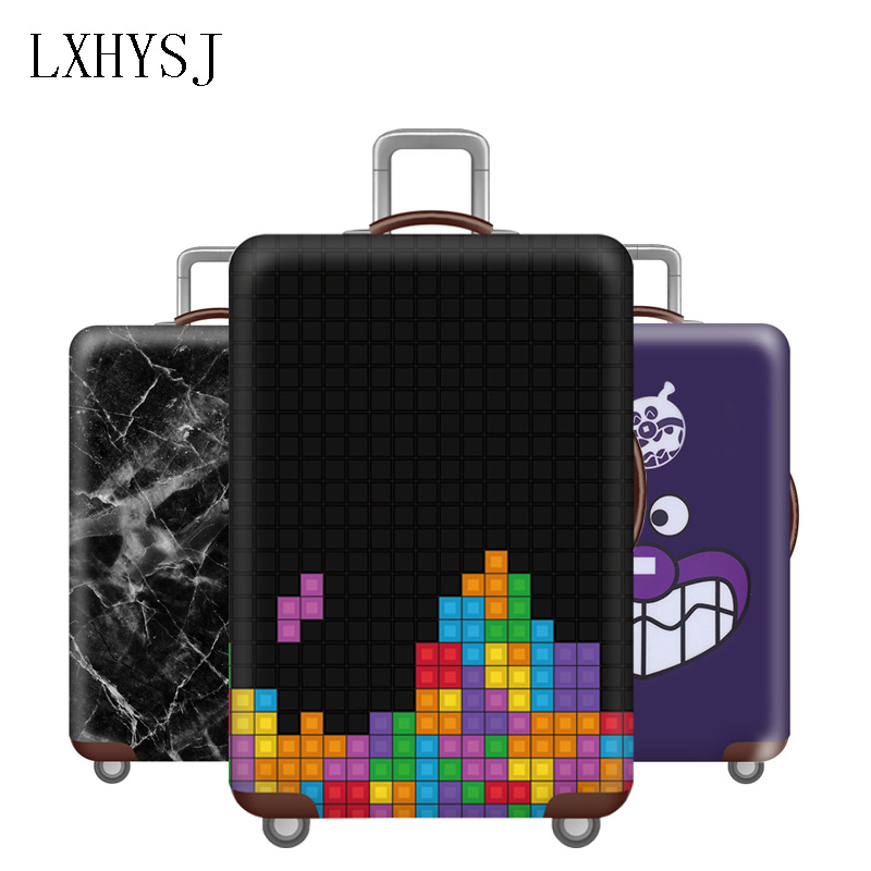 LXHYSJ Fashion Travel Luggage Protection Cover,18-32 Inch Suitcase Elastic Case Covers, Trolley Dust Cover Travel accessoriesLXHYSJ Fashion Travel Luggage Protection Cover,18-32 Inch Suitcase Elastic Case Covers, Trolley Dust Cover Travel accessories