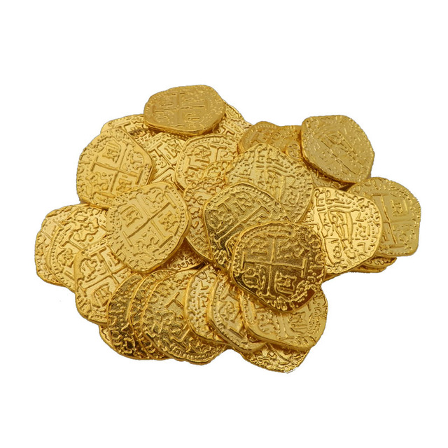 European Spain Doubloon golden coin, doubloons, Pirate toy coins Captain  Pirate Party metal coin, treasure game hunt wholesale