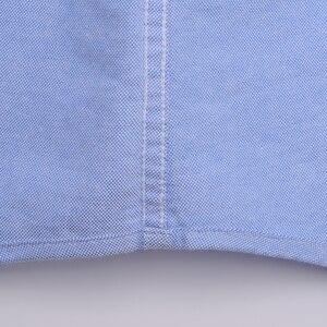 Image 5 - Vestido Oxford de manga larga, informal, con botones hacia abajo, parche para camisa, bolsillo en el pecho, camisas clásicas de corte estándar de algodón gruesas
