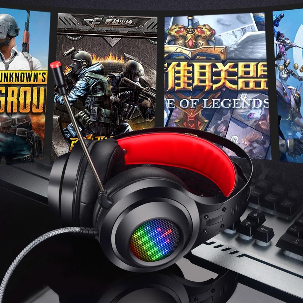 HL-G08 USB stéréo stéréo casque de jeu 7.1 virtuel Surround basse casque de jeu avec micro lumière LED pour ordinateur PC Gamer Z606