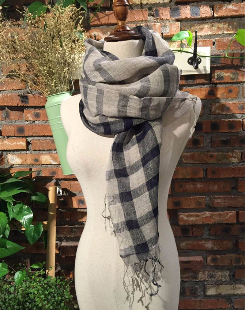 linen plaid scarf (1)