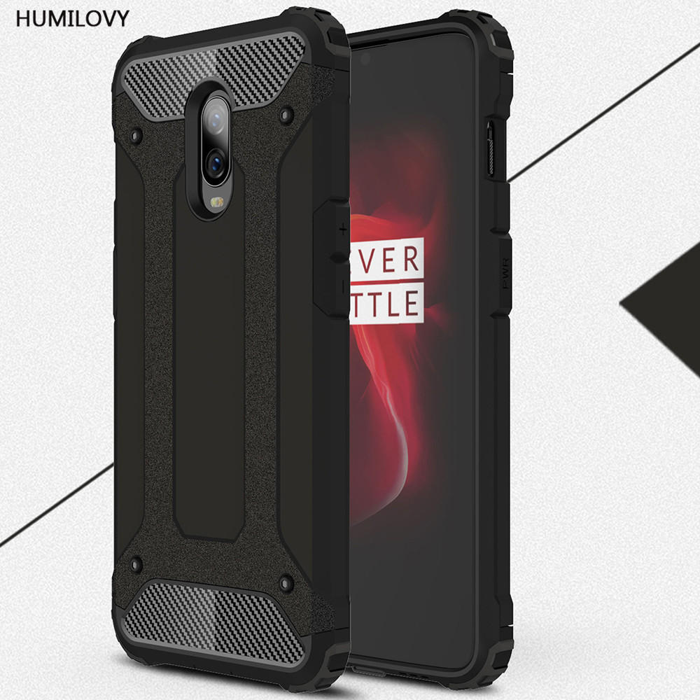 For Coque <font><b>Oneplus</b></font> 6T Case One Plus 6 Cover Heavy Armor Slim Hard Rubber Cover Silicone Phone Case for <font><b>Oneplus</b></font> 6T <font><b>A6013</b></font> Cover image