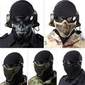Fashion New Tactical Hunting Metal Mesh Masks Airsoft Paintball Protective Gear Half Face Mask