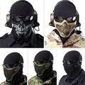 Nova moda Máscaras de Malha de Metal Airsoft Paintball Caça Tático Equipamentos de Proteção Máscara Meia Face