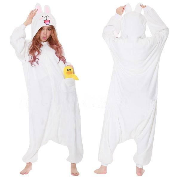 4b59f0b2d65b Jumpsuit Unisex Adult Pyjamas Cosplay Costume Brown Bear Onesies White  Rabbit Pajamas Men Women Animal Onesie Sleepwear-in Movie   TV costumes  from Novelty ...