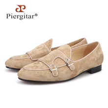 Piergitar 2018 New handmade men suede shoes Party and weddin