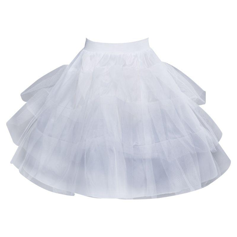 Women Bridal Multi Layered Mesh Lolita Short Petticoat Tutu Skirt Princess Sweet Bustle Wedding Underskirt